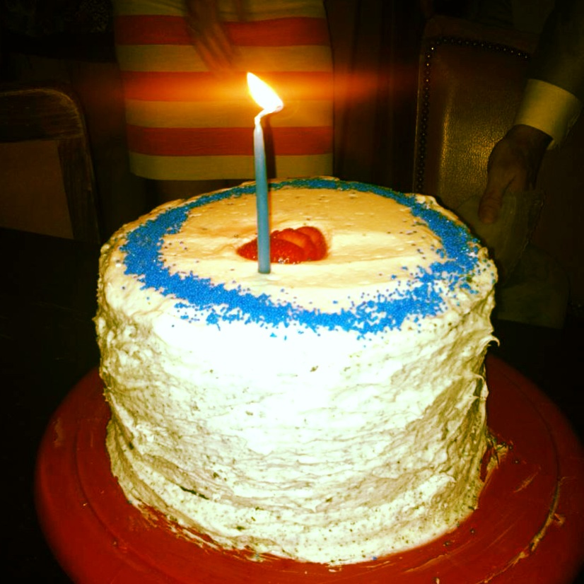 blue velvet cake for chrissy