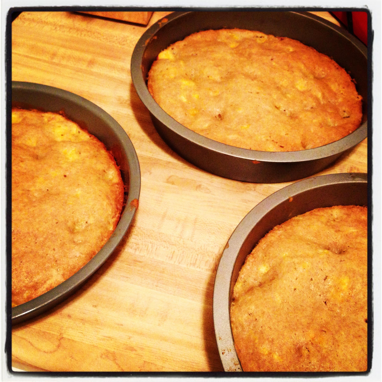 peach cake pans